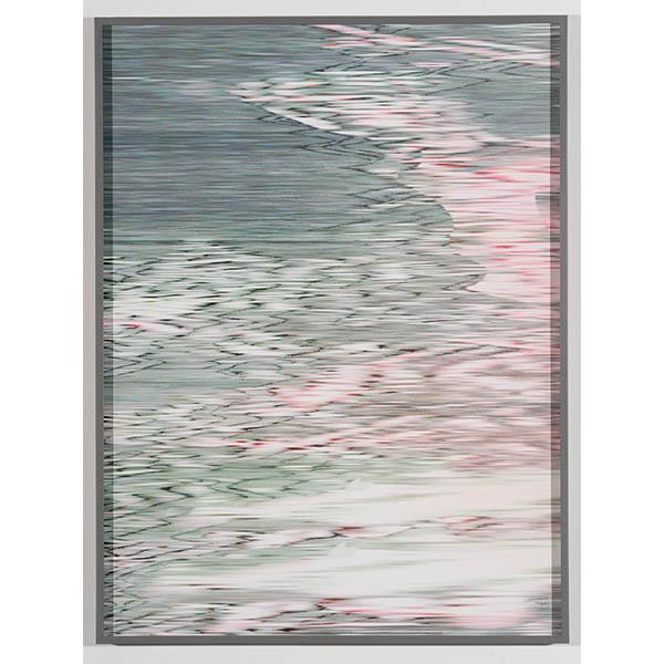 ANNA VOGEL<br/>Electric Mountains VIII, 2020, pigment print, varnish, scratched, 80 x 60 cm, unique
