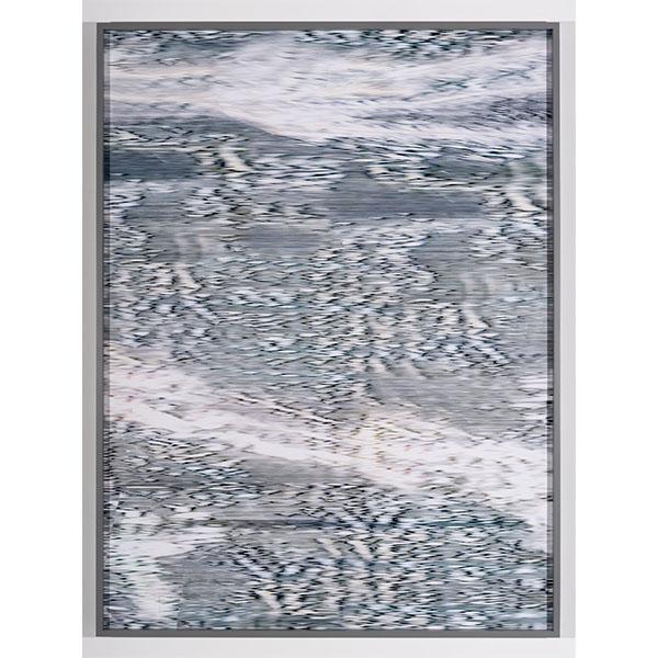 ANNA VOGEL<br/>Electric Mountains VIl, 2020, pigment print, scratched, 160 x 120 cm, unique