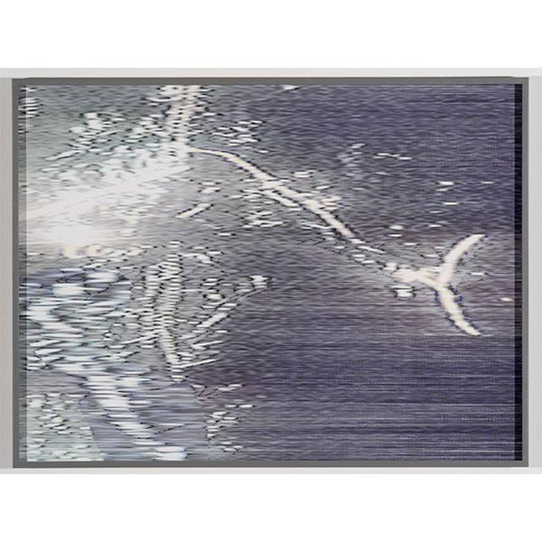 ANNA VOGEL<br/>Electric Mountains X, 2020, pigment print, varnish, scratched, 60 x 80 cm, unique