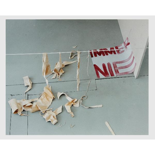 MONIKA BRANDMEIER<br/>immernie #6 (Wildlederleine), 2001, c-print 47,5 x 58 cm, ed. 5