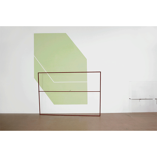 MONIKA BRANDMEIER<br/>Nabel, 2009, acrylic paint, steel, anticorrosion paint, 362 x 295 x 50 cm