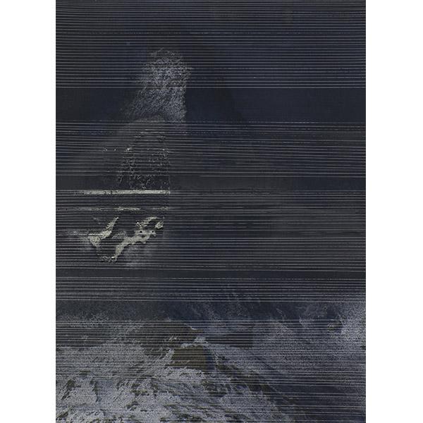 ANNA VOGEL<br/>Ephemeral I, 2013, collage, varnish on pigment print, scratched, 34 x 40 cm