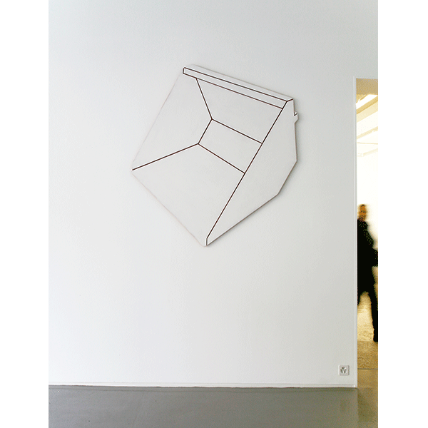 MONIKA BRANDMEIER<br/>Schaufel, 2014, wood, paint, 130 x 155 x 2 cm