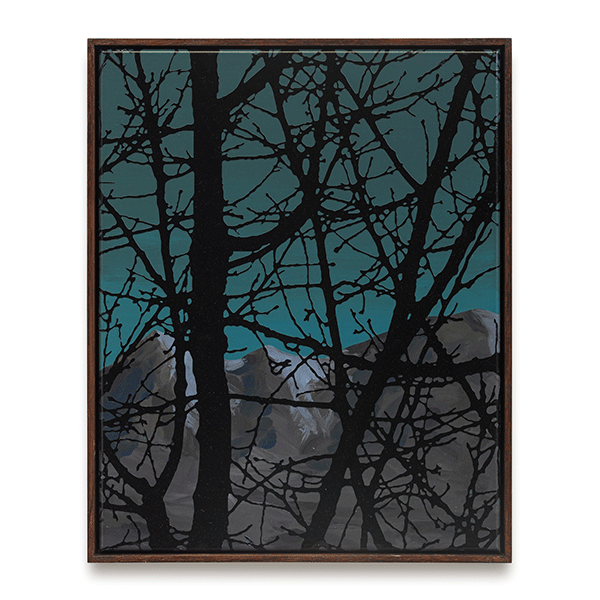 SVEN DRÜHL<br/>S.D.C.G.T. xs II, 2019, varnish on canvas, 50 x 40 cm