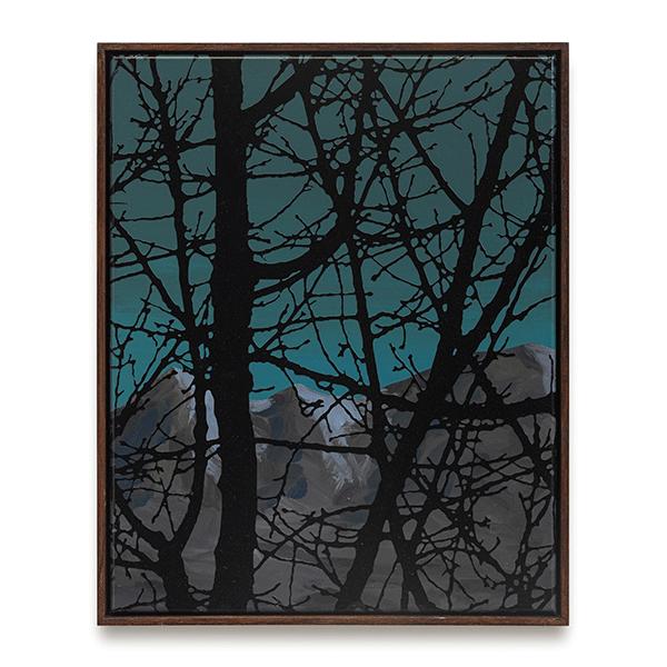 SVEN DRÜHL<br/>S.D.C.G.T. xs II, 2019, varnish on canvas, 50 x 40 cm