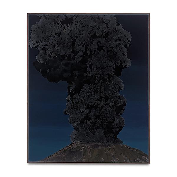 SVEN DRÜHL<br/>S.D.N.N., 2019, varnish on canvas, 200 x 160 cm
