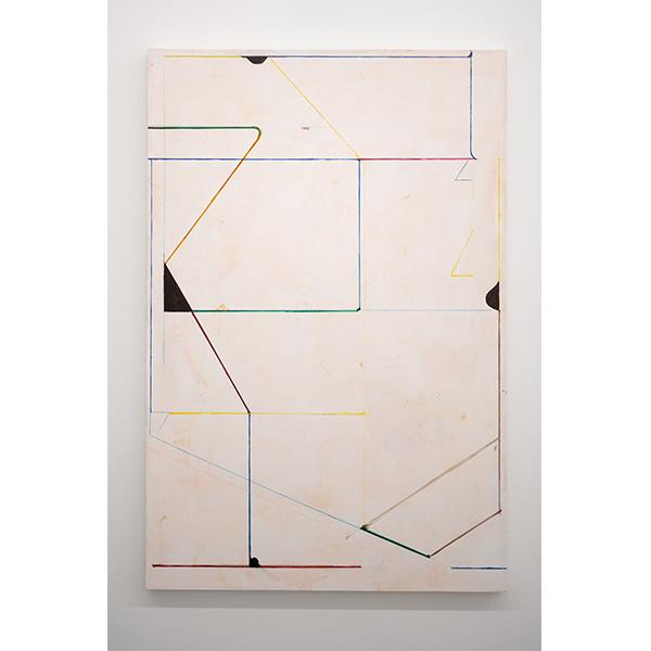 PIUS FOX</br>PF 19-068, 2019, oil and egg tempera on canvas, 90 x 60 cm