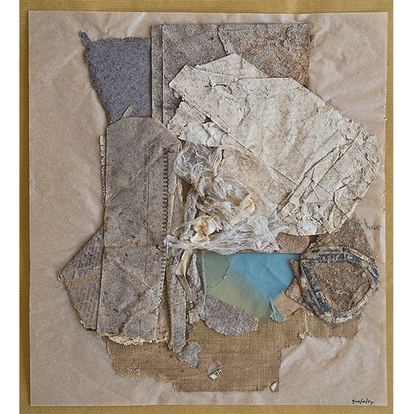 herman de vries<br/>9–10/10/59, 1959, collage trouvé, 31,5 x 28 cm