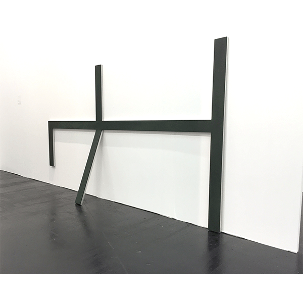 MONIKA BRANDMEIER<br/>Plusminusnull, 2010, Aluminium, Gummibeschichtung, 150 x 260 x 33 cm