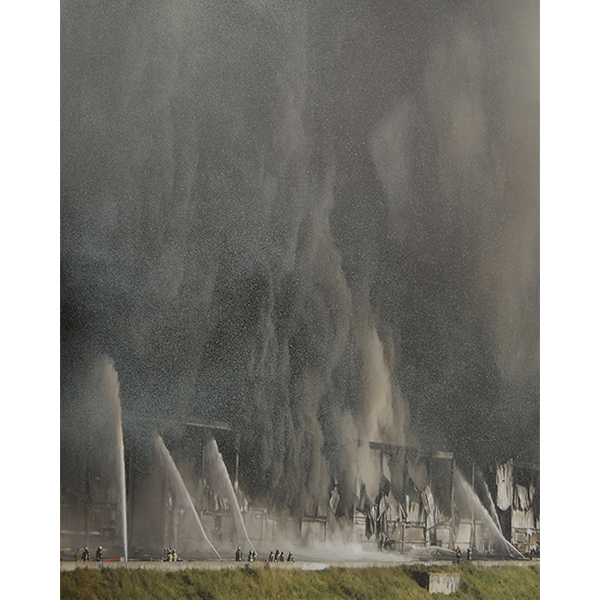 ANNA VOGEL<br/>Untitled, 2016, pigment print, ink drawing, 41 x 31 cm, unique