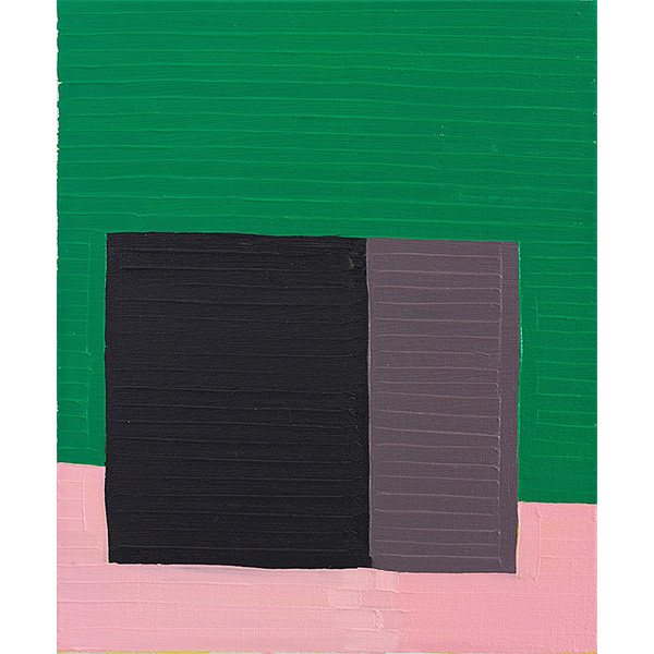 GUY YANAI<br /> Black Box, 2015, oil on linen, 36 x 30 cm
