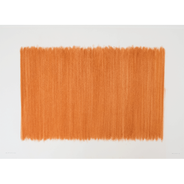 herman de vries<br/>from earth: alonissos, northern sporades, 2000, grounded and rubbed earth pigment, 73 x 102 cm
