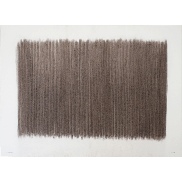 herman de vries<br/>from earth: eijssen, nl, 1990, grounded and rubbed earth pigment, 70 x 100 cm