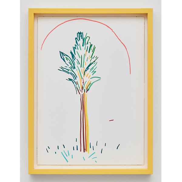 GUY YANAI<br /> Fra Angelico Tree, 2017, color pencil and ink, hot pressed paper, framed, 26 x 36 cm