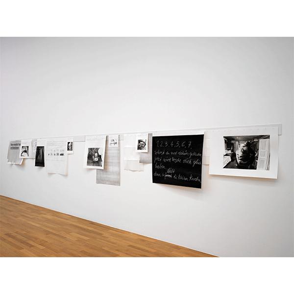 JANA GUNSTHEIMER<br/>Genie / Untersuchungen, 2009, watercolor on different papers, 100 x 800 cm