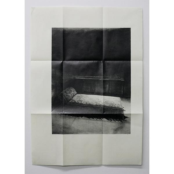 JANA GUNSTHEIMER<br/>Letter #2, 2012, pencil on paper, folded, 99 x 72,5 cm