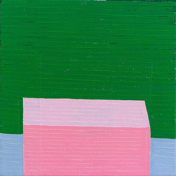 GUY YANAI<br /> Nothing (Jardin de Majorelle), 2013, oil on linen, 40 x 40 cm