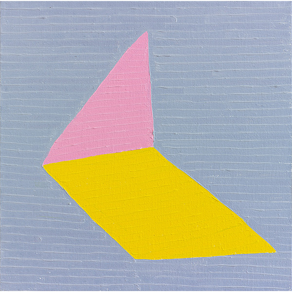 GUY YANAI<br /> Nothing (Two Shapes), 2013, oil on linen, 40 x 40 cm