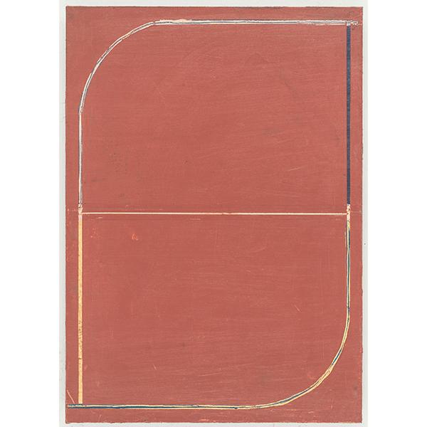 PIUS FOX</br>PF 18-070 Untitled, 2018, oil on paper on aluminium, 28 x 20 cm