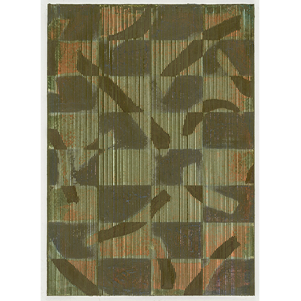 PIUS FOX</br>PF 18-072 Teildickicht, 2018, oil on paper on aluminium, 28 x 20 cm