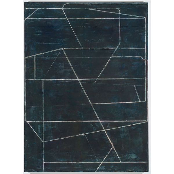 PIUS FOX</br>PF 18-076 Landschaft, 2018, egg tempera and oil on canvas, 150 x 110 cm