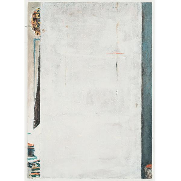 PIUS FOX</br>PF 18-082 Anschnitt, 2018, oil on paper on aluminium, 24 x 17 cm