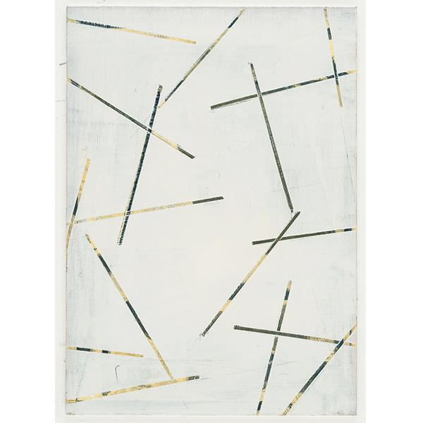 PIUS FOX</br>PF 18-084 Strichtanz, 2018, oil on paper on aluminium, 24 x 17 cm