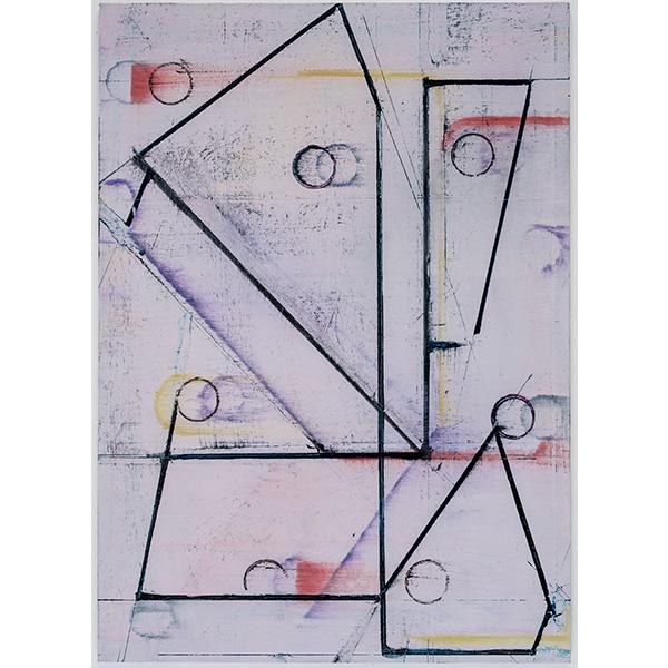 PIUS FOX</br>PF 19-076, oil on paper on aluminium, 28 x 20 cm