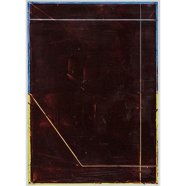 PIUS FOX</br>PF 20-012, oil on paper, 24 x 17 cm
