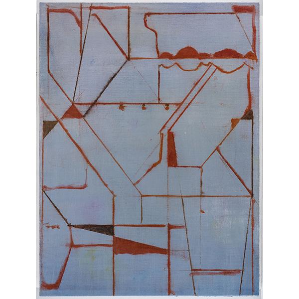 PIUS FOX</br>PF 20-016, oil on paper, 48 x 36 cm