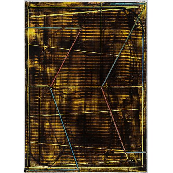PIUS FOX</br>PF 20-018, oil and egg tempera on paper, 28 x 20 cm
