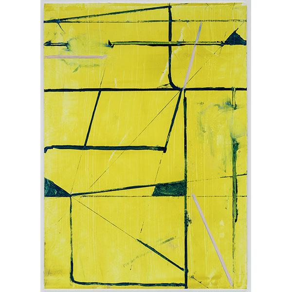 PIUS FOX</br>PF 20-019, oil and egg tempera on paper, 24 x 17 cm