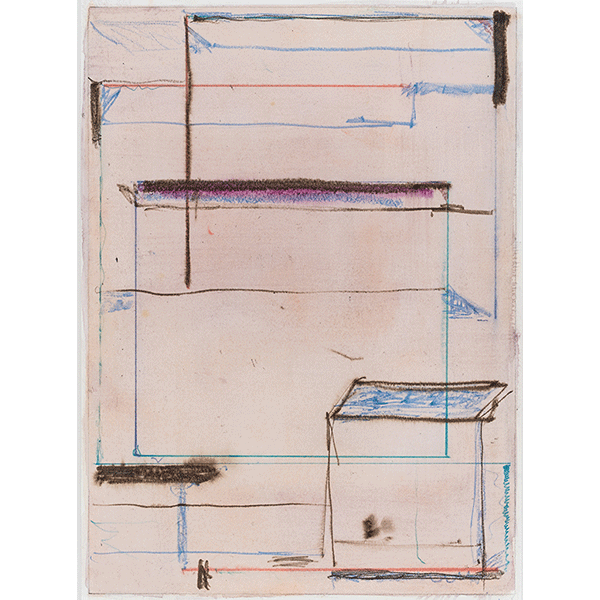 PIUS FOX</br>16-090 Innenraum, 2016, watercolour and pencil on paper, 34 x 25 cm