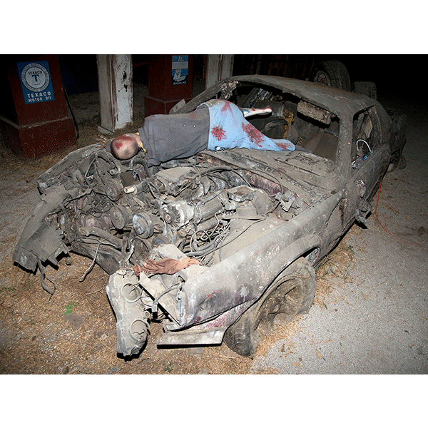JOSCHA STEFFENS<br/>POTU-Car Crash Victim, 2014, 72 x 54 cm