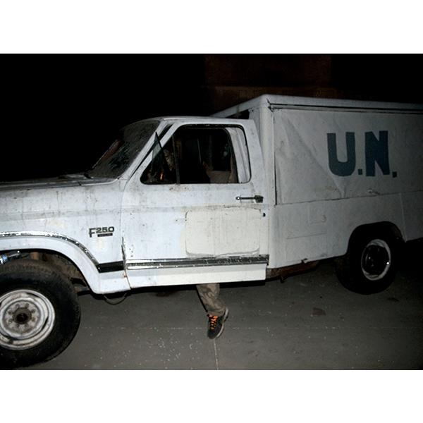 JOSCHA STEFFENS<br/>POTU-Zombi II United Nations, 2014, 72 x 54 cm