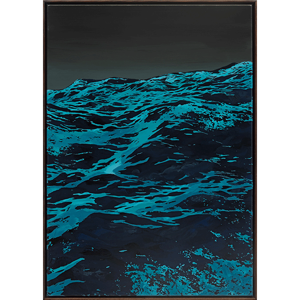 SVEN DRÜHL<br/>SDGM VI, 2017, enamel on canvas, 85 x 60 cm