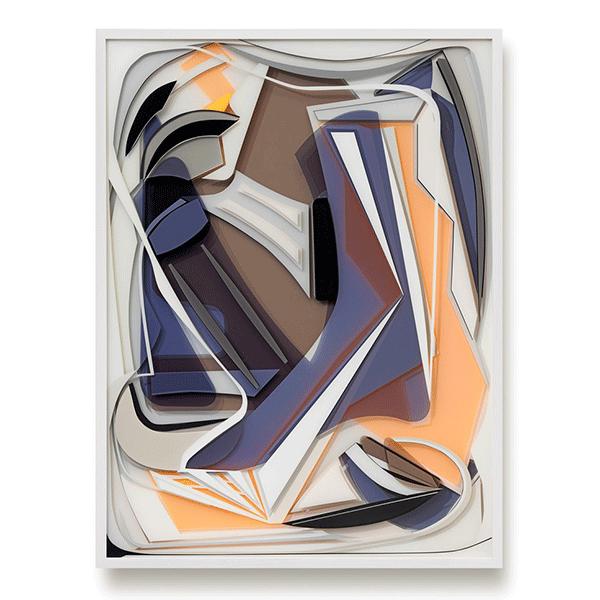 TANJA ROCHELMEYER<br/>Awake (Maxxi Rome), 2017, acrylic paint and coloured acrylic glass<br/>100 × 75 × 6 cm