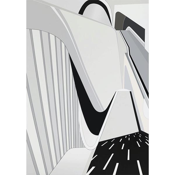 TANJA ROCHELMEYER<br/>Each Other (Maxxi Rome), 2018, acrylic on canvas, 200 × 140 cm