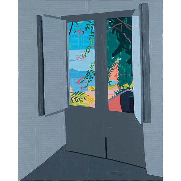 GUY YANAI<br />Hotel, 2018, oil on canvas, 150 x 120 cm