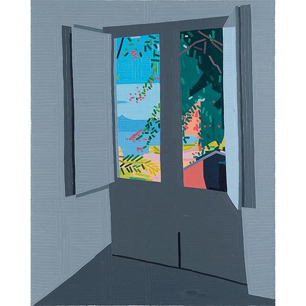 GUY YANAI<br />Hotel, 2018, oil on canvas, 150 x 120 cm
