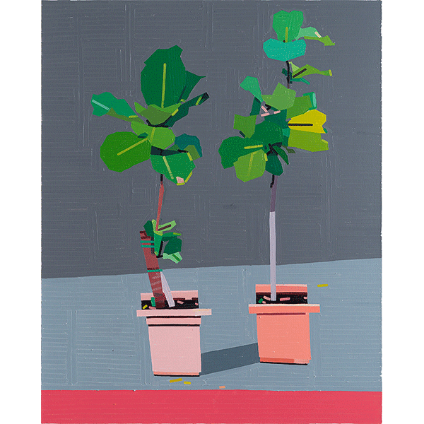 GUY YANAI<br />The Artist and His Mother (Castelvetrano), 2018, oil on canvas, 150 x 120 cm