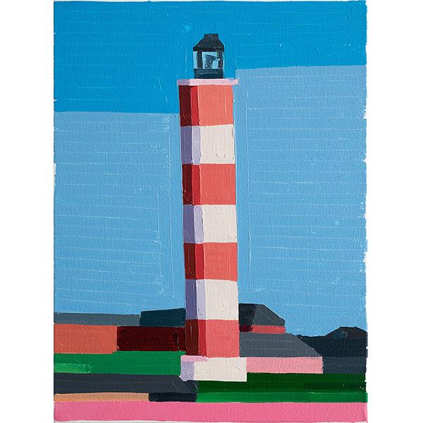 GUY YANAI<br />Lighthouse Normandy, 2020, oil on canvas, 40 x 30 cm