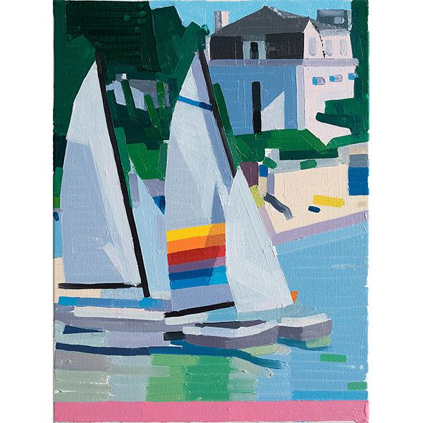 GUY YANAI<br />Normandy, 2020, oil on canvas, 40 x 30 cm