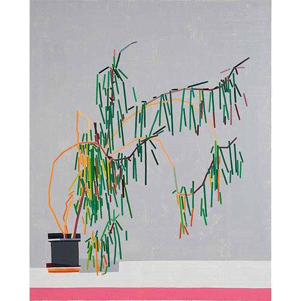 GUY YANAI<br />Plant in German Office III, 2020, oil on canvas, 157 x 127 cm