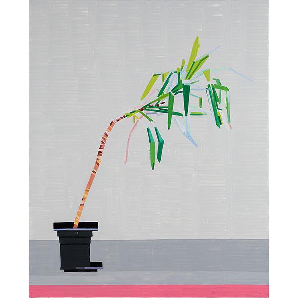 GUY YANAI<br />Plant in German Office II, 2020, oil on canvas, 157 x 127 cm