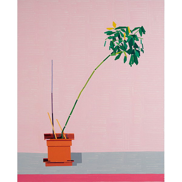 GUY YANAI<br />Plant in German Office I, 2020, oil on canvas, 157 x 127 cm