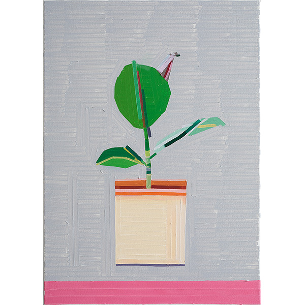 GUY YANAI<br />Plant in German Office, 2020, oil on canvas, 70 x 50 cm