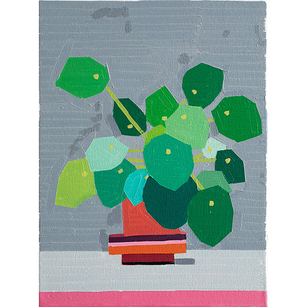 GUY YANAI<br />Small Plant 2, 2020, oil on canvas, 40 x 30 cm