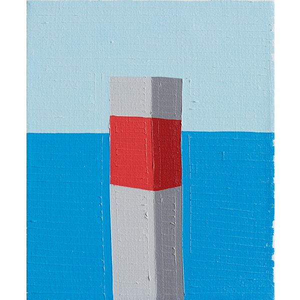 GUY YANAI<br /> Port in Holiday, 2017, oil on linen, 37 x 30 cm