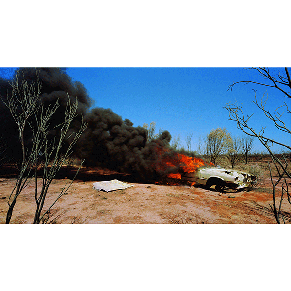 ROSEMARY LAING<br/>one dozen unnatural disasters in the australian landscape 02, 2003, c-print mounted and framed, 130 x 225,7 cm, ed. 8